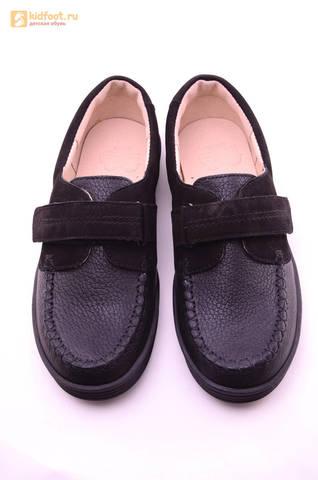 Ботинки для мальчиков из натуральной кожи на липучках Лель (LEL), цвет черный. Изображение 13 из 18.