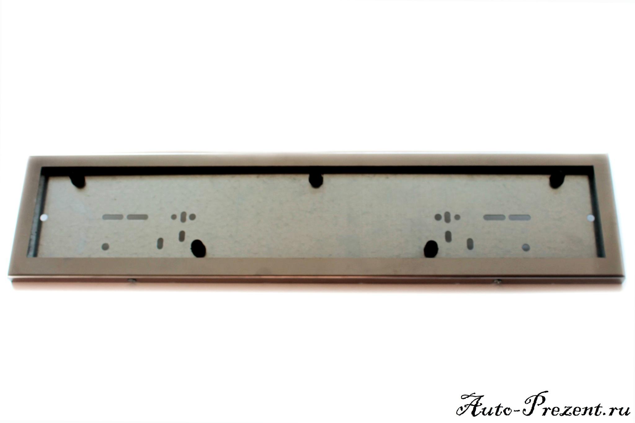 Рамки под номерной знак из нержавеющей стали (2 шт.)
