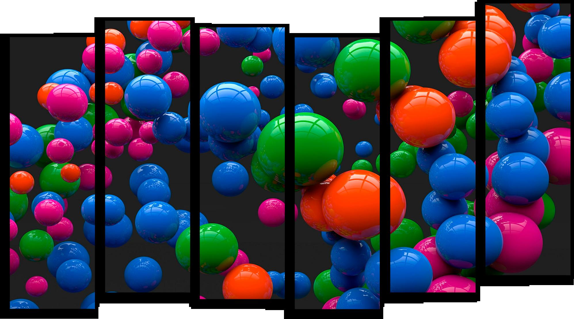 """Абстракция Модульная картина """"Надувные шарики"""" М596.png"""