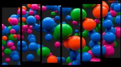 """Модульная картина """"Надувные шарики"""""""