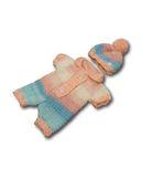 Вязаные ползунки - Розовый. Одежда для кукол, пупсов и мягких игрушек.