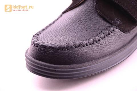 Ботинки для мальчиков из натуральной кожи на липучках Лель (LEL), цвет черный. Изображение 14 из 18.