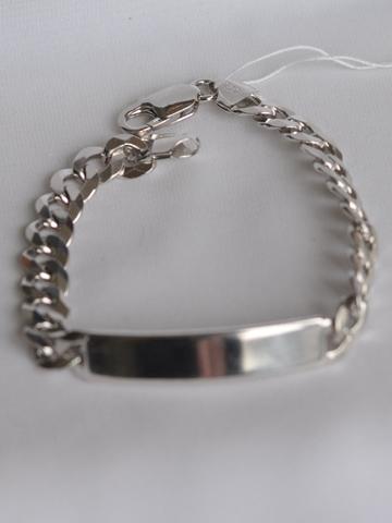 Браслет панцирный с пластиной(серебряный браслет )