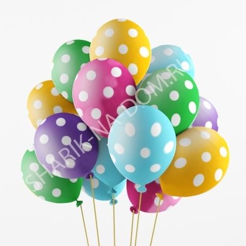 Воздушные шары в горошек