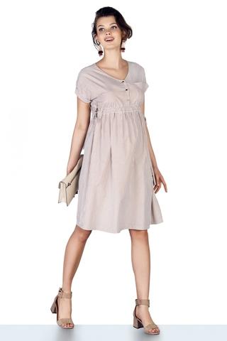 Платье для беременных 10214 бежевый