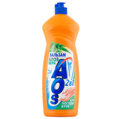 Средство для мытья посуды АОС Бальзам Алоэ 1л