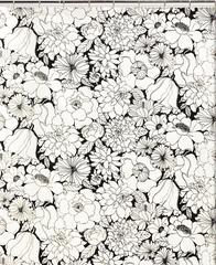 Шторка для ванной 183x183 Creative Black and White
