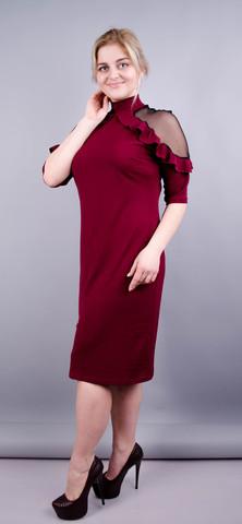 Прага. Оригинальное платье плюс сайз. Бордо.