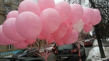 Розовые воздушные шары (фото 2)