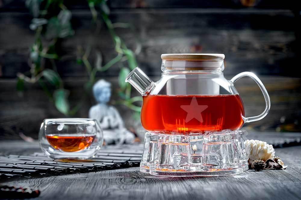 Наборы-Акции Стеклянный чайник с подогревом от свечи и чашками – Набор Бамбук Zavarochniy_chainik_s_podogrevom_Bamboo_TeaStar.jpg