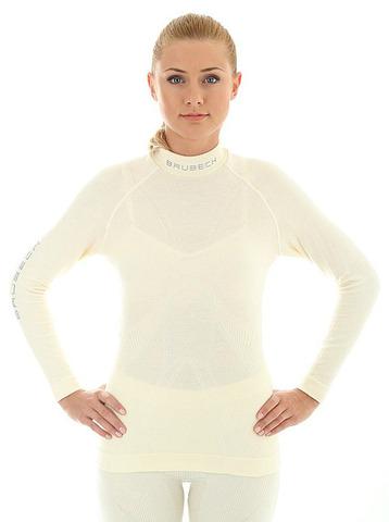 Термобелье рубашка женская Brubeck Extreme Merino экри