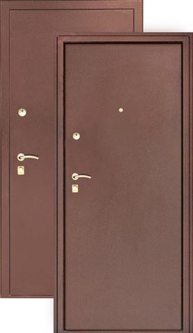 Дверь входная Сибирь S-3/3, 2 замка, 1,5 мм  металл, (медь+медь)