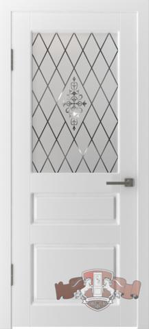 Дверь Владимирская фабрика дверей 15ДОО, стекло белое, цвет белая эмаль, остекленная