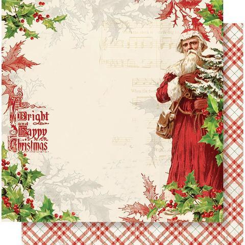 Лист двусторонней бумаги 30х30 см. - Simple Vintage Christmas - Dear Santa