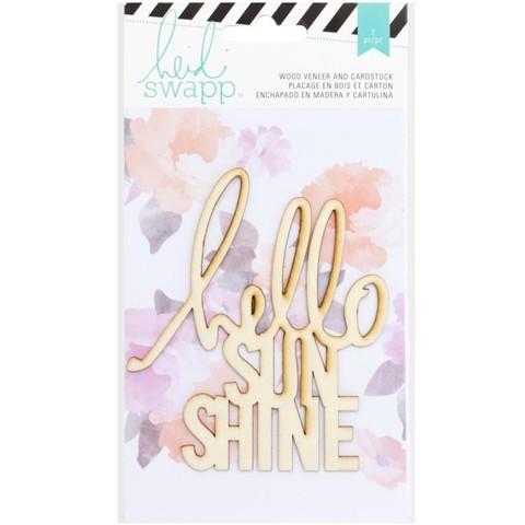 "Деревянный чипборд ""Hello sunshine"" от Heidi Swapp"