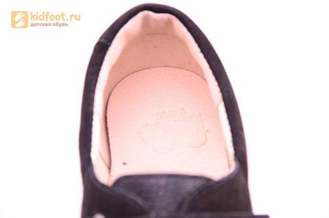 Ботинки для мальчиков из натуральной кожи на липучках Лель (LEL), цвет черный. Изображение 17 из 18.