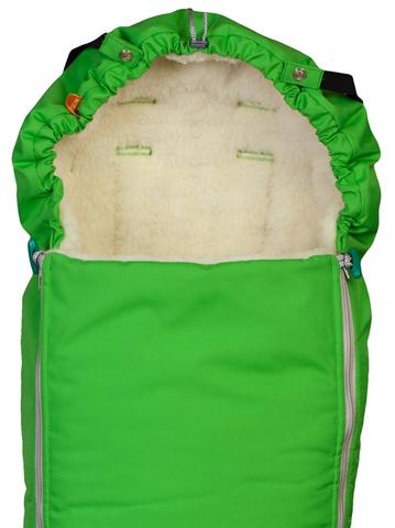 Чудо-Чадо. Конверт меховой Комфорт, ярко-зеленый