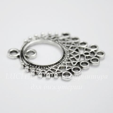Коннектор (1-10) 33х25 мм (цвет - античное серебро)