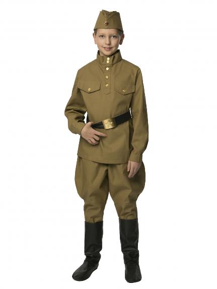 Костюм Солдат с брюками - галифе подростковый (саржа)