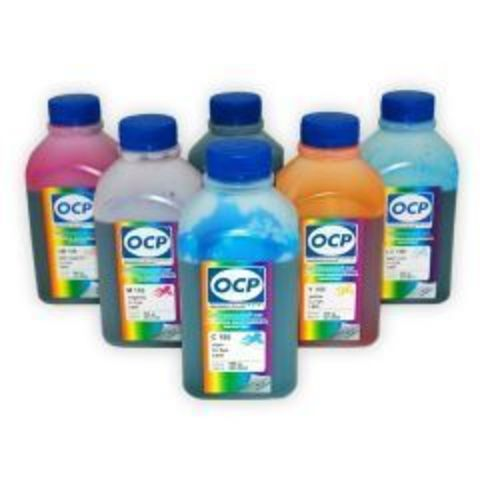 Набор чернил OCP для Epson R200/R220/R300/R320/R340/RX500/RX600 (OCP BK73, C76, CL77, M72, ML73, Y61) 6 x 500 мл