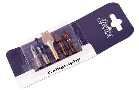Набор перьев для каллиграфии CRETACOLOR 5 шт в блистере