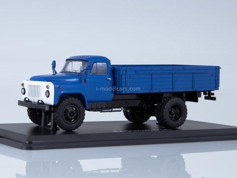 GAZ-53A flatbed truck blue 1:43 Start Scale Models (SSM)