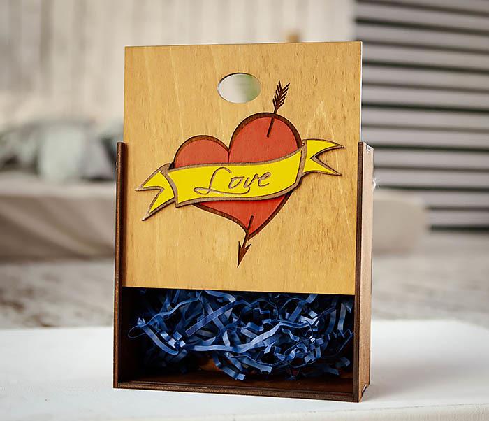 BOX237-2 Подарочная коробка для влюбленных (17*17*7 см) фото 03