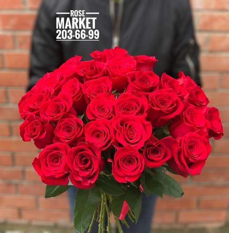 31 красная роза 60 см #1830