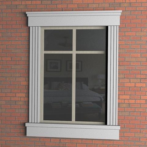 Окно в сборе с сандриком