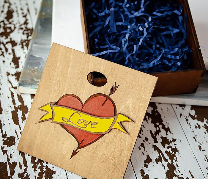 BOX237-2 Подарочная коробка для влюбленных (17*17*7 см) фото 04