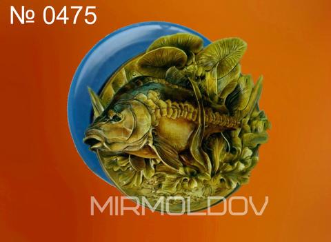 Силиконовый молд  Рыба  (медальон) № 0475