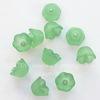 Бусина акриловая Цветочек зеленый 10х6 мм ,10штук