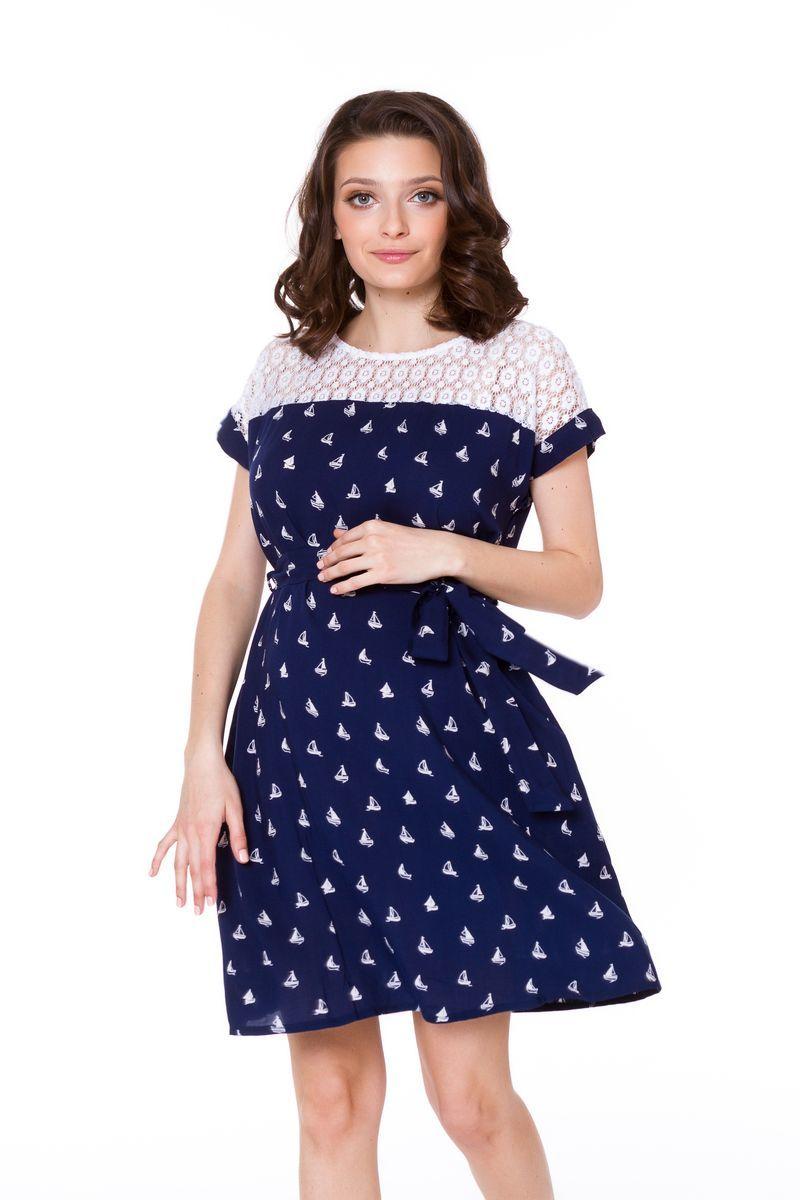 Платье для беременных 08565 синий