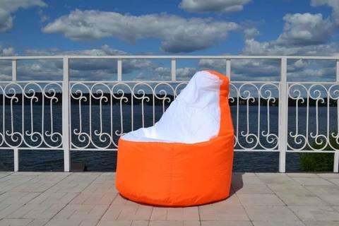 Кресло-мешок «Комфорт» Оранжево-белый