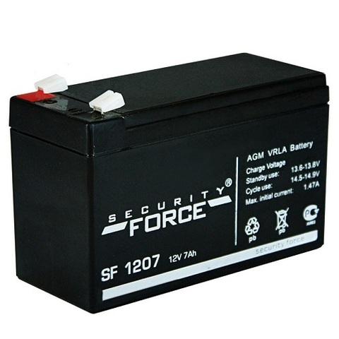 SF 1207 аккумулятор 12В/7Ач Security Force