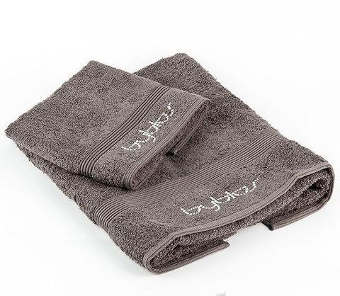 Набор полотенец 2 шт Byblos Cristall серый