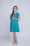 Платье для беременных 06149 малиновый
