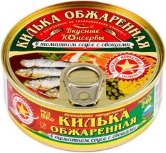 """Килька """"Вкусные консервы"""" обжаренная в томатном соусе, 240 г"""