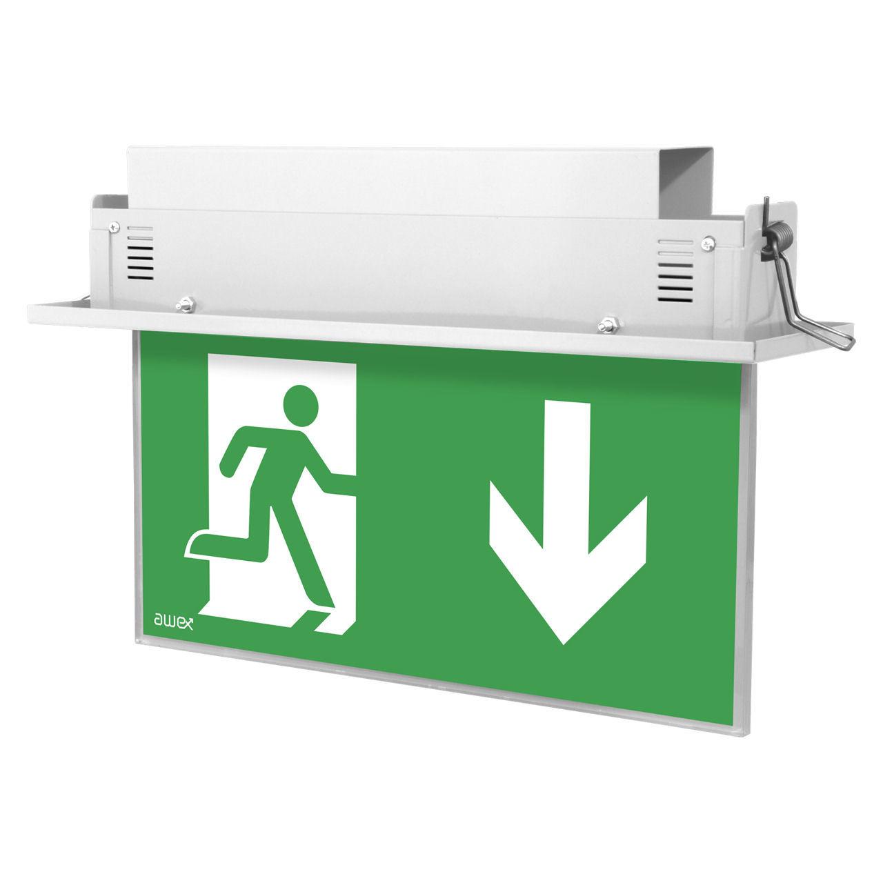 Встраиваемые светодиодные аварийные указатели выход Plexi LED Awex – белый корпус
