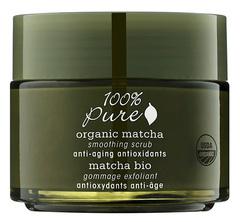 Органический выравнивающий скраб для лица «Зеленый Чай Matcha», 100% Pure
