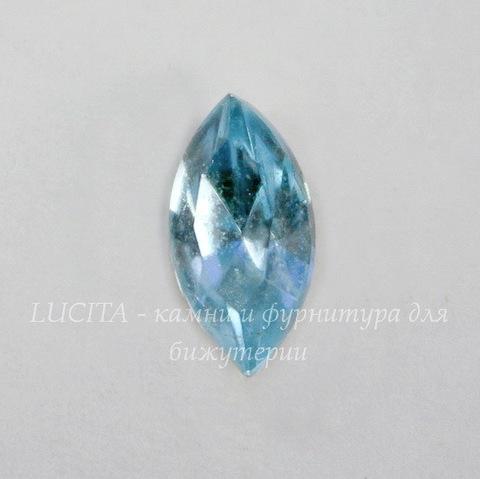 Ювелирные стразы Preciosa Aquamarine (10х5 мм)