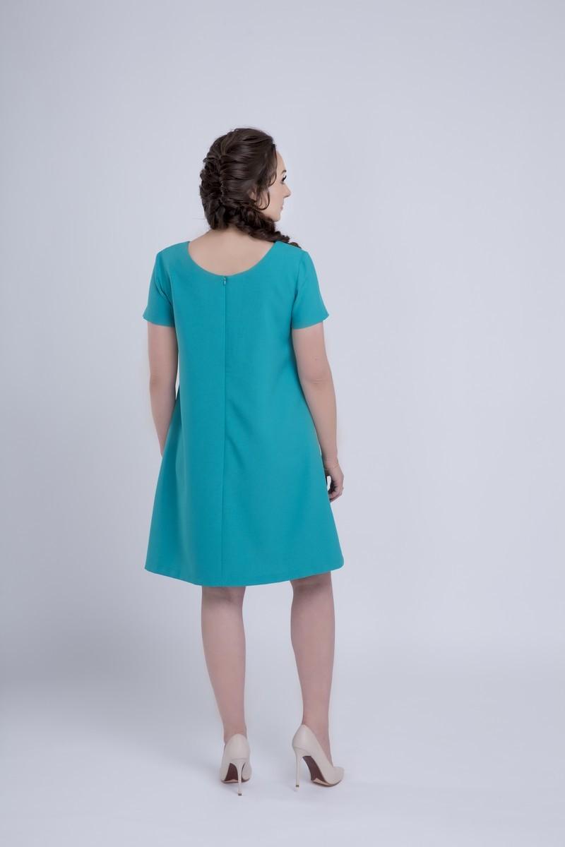 Платье для беременных 06149 бирюзовый