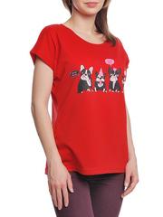 37662-13-1 футболка женская, красная