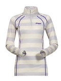 Bergans термобелье футболка 1959 Fjellrapp Lady Half Zip White Striped