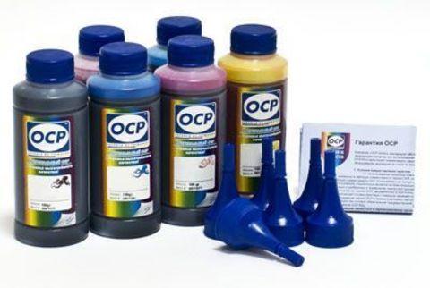 Набор чернил OCP повышенной светостойкости для 6-ти цветных принтеров Epson (OCP BK140 (340 edition), M140, ML141, C140, CL141, Y140) для Epson T50/T59/P50/TX800/TX700/TX650/RX610, (6 x 100 мл)