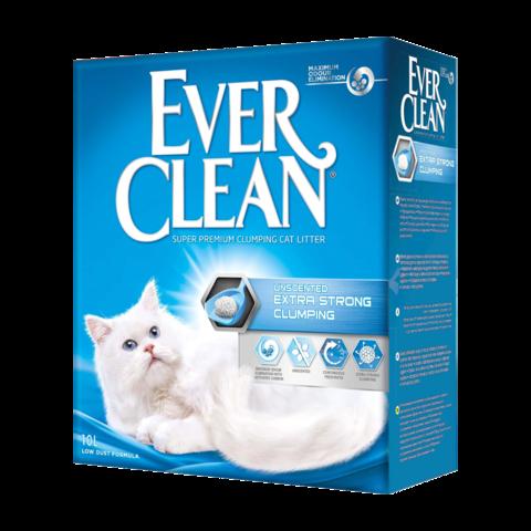 Ever Clean Extra Strong Clumping Unscented Наполнитель для туалета кошек без ароматизатора комкующийся (голубая полоска)