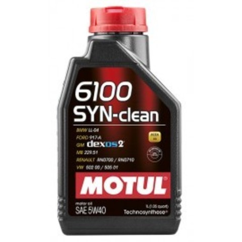 Масло моторное MOTUL  6100 SYN-CLEAN 5W40 Technosynthese