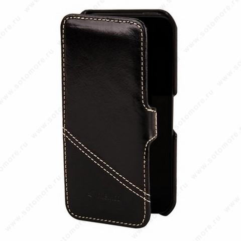 Чехол-книжка Melkco для iPhone SE/ 5s/ 5C/ 5 Leather Case Booka Type Mix and Match Series (Vintage Black/ Black Wax)