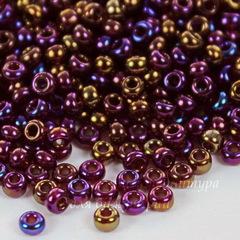 Бисер 10/0 Preciosa Металлик радужный фиолетовый микс