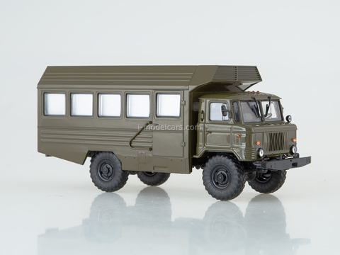 GAZ-66 KSP-2001 mobile dental office khaki 1:43 AutoHistory